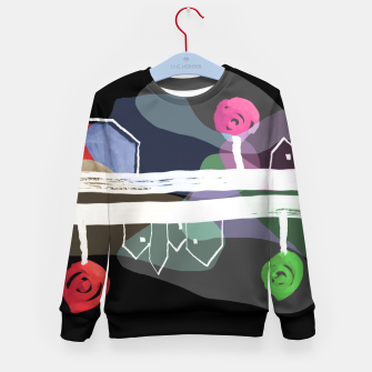 Thumbnail image of  Little Village by the Road Color at Night Kid's sweater, Live Heroes