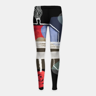 Thumbnail image of  Little Village by the Road Color at Night Girl's leggings, Live Heroes