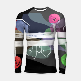 Thumbnail image of  Little Village by the Road Color at Night Longsleeve rashguard , Live Heroes