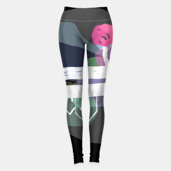 Thumbnail image of  Little Village by the Road Color at Night Leggings, Live Heroes