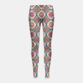Thumbnail image of Oriental Heritage Traditional Moroccan Floral Style Girl's leggings, Live Heroes