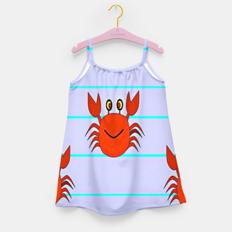 Thumbnail image of Red crabs on stripes Girl's dress, Live Heroes