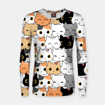 Thumbnail image of Cute Meow Women sweater, Live Heroes