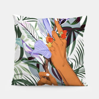 Thumbnail image of Merging Nature & Humanity Pillow, Live Heroes