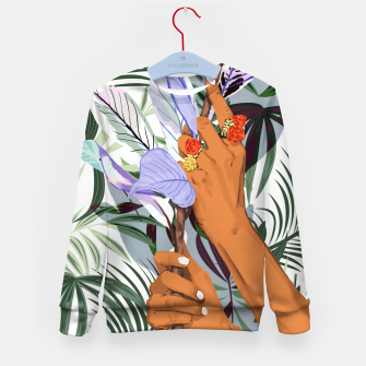 Thumbnail image of Merging Nature & Humanity Kid's sweater, Live Heroes