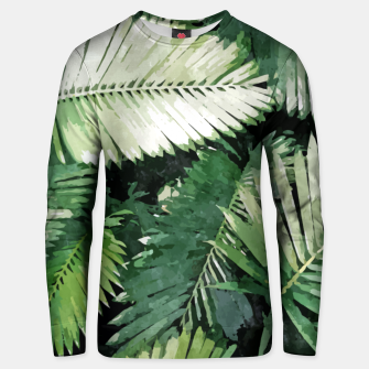 Life Is Better With Palm Trees, Tropical Nature Jungle Painting, Watercolor Nature Bohemian Plants Unisex sweater thumbnail image