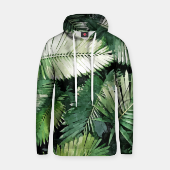 Life Is Better With Palm Trees, Tropical Nature Jungle Painting, Watercolor Nature Bohemian Plants Hoodie thumbnail image