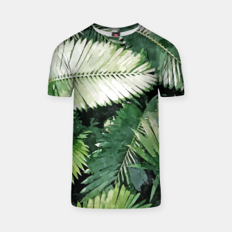 Life Is Better With Palm Trees, Tropical Nature Jungle Painting, Watercolor Nature Bohemian Plants T-shirt thumbnail image