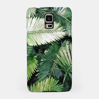 Life Is Better With Palm Trees, Tropical Nature Jungle Painting, Watercolor Nature Bohemian Plants Samsung Case thumbnail image