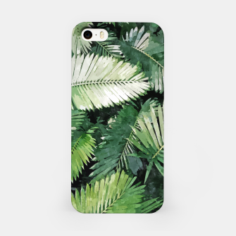 Life Is Better With Palm Trees, Tropical Nature Jungle Painting, Watercolor Nature Bohemian Plants iPhone Case thumbnail image