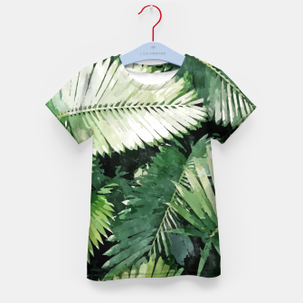 Life Is Better With Palm Trees, Tropical Nature Jungle Painting, Watercolor Nature Bohemian Plants Kid's t-shirt thumbnail image