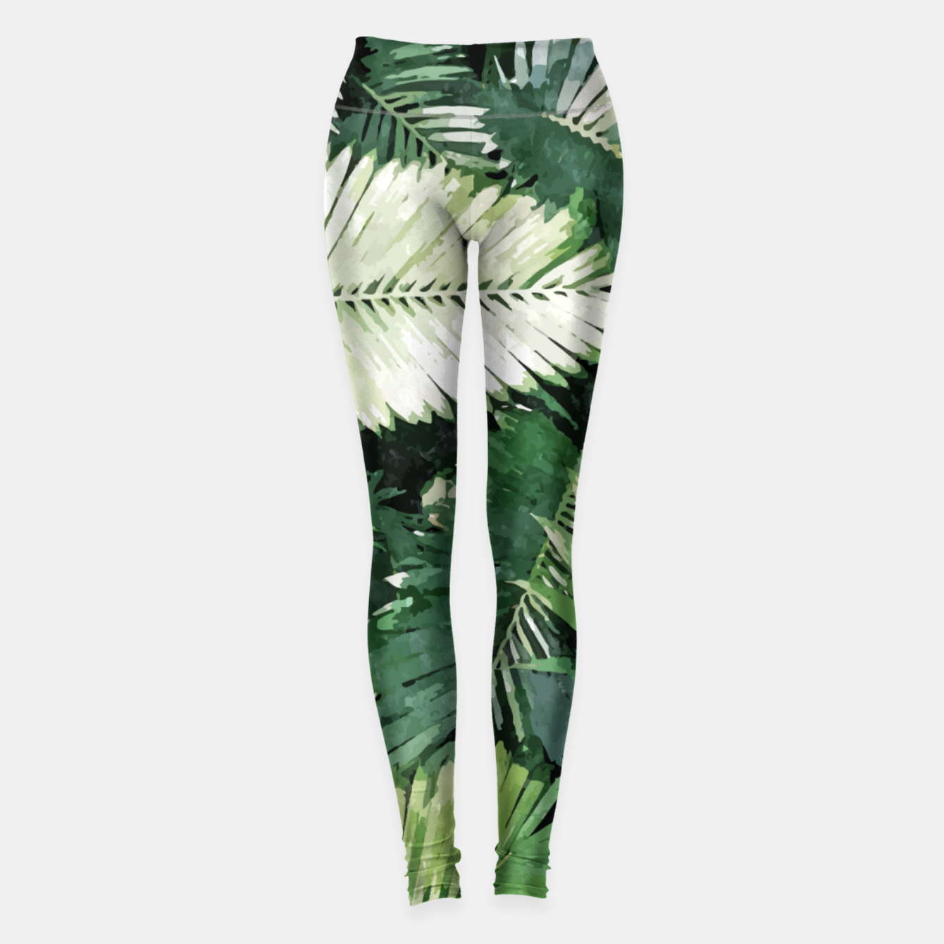 Image of Life Is Better With Palm Trees, Tropical Nature Jungle Painting, Watercolor Nature Bohemian Plants Leggings - Live Heroes