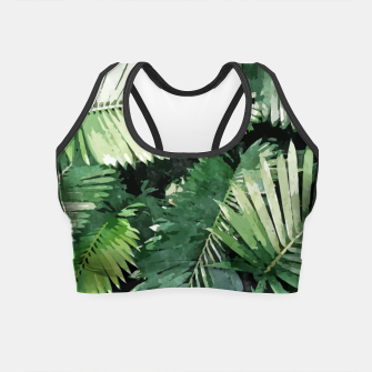 Life Is Better With Palm Trees, Tropical Nature Jungle Painting, Watercolor Nature Bohemian Plants Crop Top thumbnail image