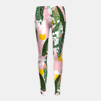 Thumbnail image of Turn your face to the Sun & the shadows follow behind you Girl's leggings, Live Heroes