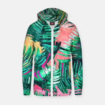 I'm All About Palm Trees & 80 Degrees Zip up hoodie thumbnail image