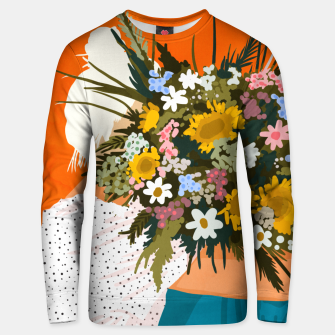 Miniaturka Happiness Is To Hold Flowers In Both Hands Unisex sweater, Live Heroes