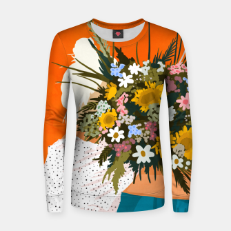 Miniaturka Happiness Is To Hold Flowers In Both Hands Women sweater, Live Heroes