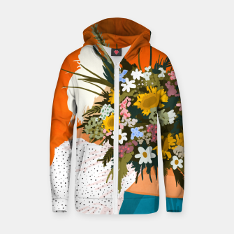 Miniaturka Happiness Is To Hold Flowers In Both Hands Zip up hoodie, Live Heroes