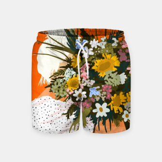 Miniaturka Happiness Is To Hold Flowers In Both Hands Swim Shorts, Live Heroes