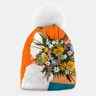 Miniaturka Happiness Is To Hold Flowers In Both Hands Beanie, Live Heroes