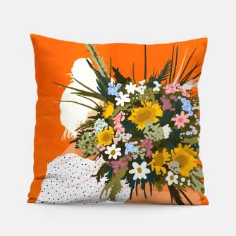 Miniaturka Happiness Is To Hold Flowers In Both Hands Pillow, Live Heroes