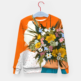 Miniaturka Happiness Is To Hold Flowers In Both Hands Kid's sweater, Live Heroes
