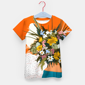 Miniaturka Happiness Is To Hold Flowers In Both Hands Kid's t-shirt, Live Heroes