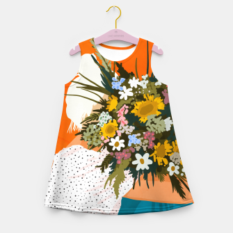 Miniaturka Happiness Is To Hold Flowers In Both Hands Girl's summer dress, Live Heroes
