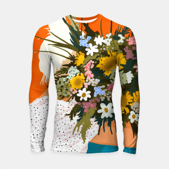 Miniaturka Happiness Is To Hold Flowers In Both Hands Longsleeve rashguard , Live Heroes