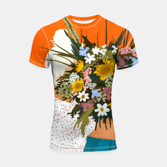 Miniaturka Happiness Is To Hold Flowers In Both Hands Shortsleeve rashguard, Live Heroes