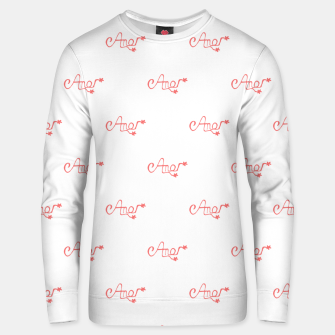 Miniatur Spanish Love Text Drawing Pattern Unisex sweater, Live Heroes