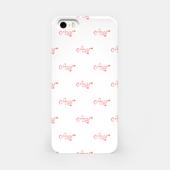 Miniatur Spanish Love Text Drawing Pattern iPhone Case, Live Heroes