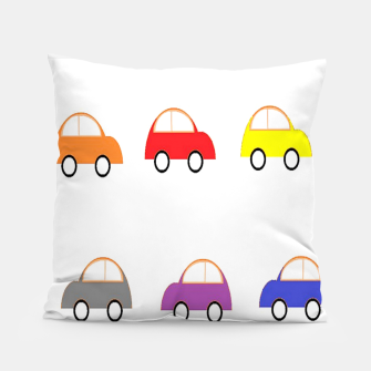 Thumbnail image of Colorful small cars Pillow, Live Heroes