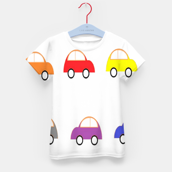 Thumbnail image of Colorful small cars Kid's t-shirt, Live Heroes