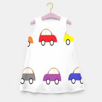Thumbnail image of Colorful small cars Girl's summer dress, Live Heroes