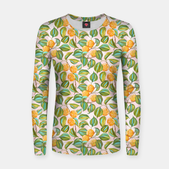 Thumbnail image of Honey apricots on a sunny day Women sweater, Live Heroes