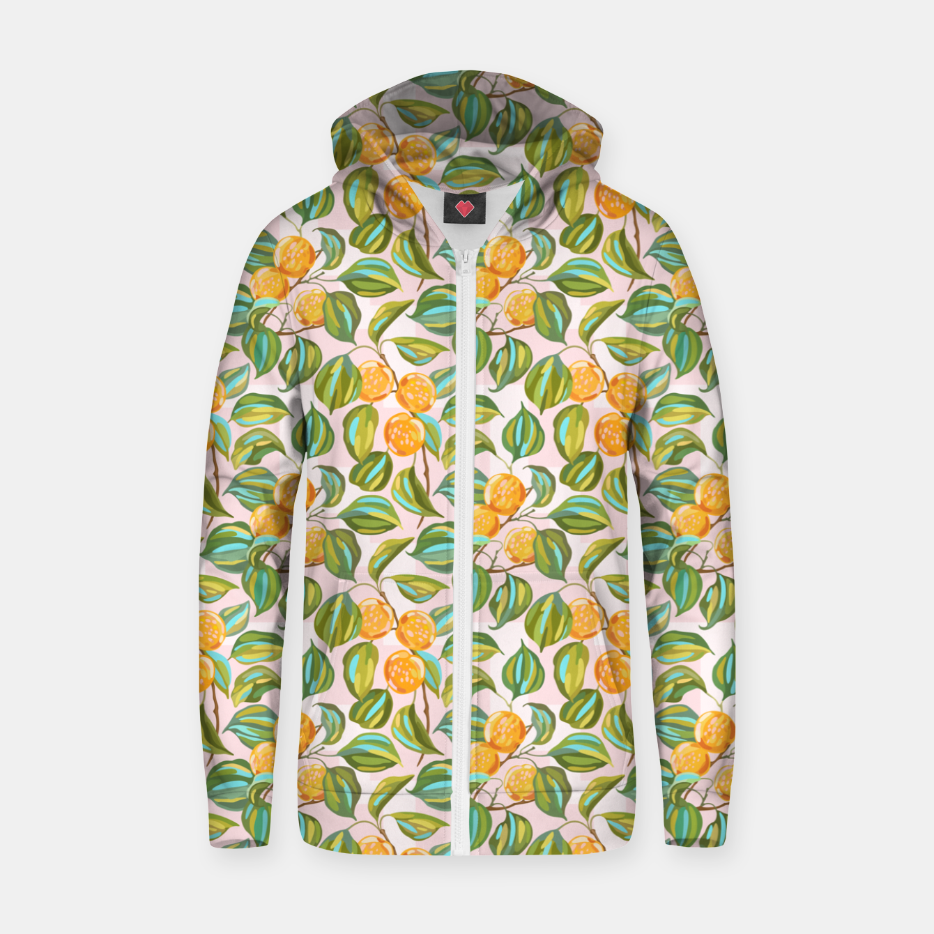 Image of Honey apricots on a sunny day Zip up hoodie - Live Heroes