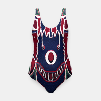 Thumbnail image of Fantasy Sketchy Drawing Mask Swimsuit, Live Heroes