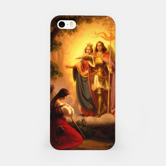 Miniature de image de Appearance of Sts Catherine and Michael to Joan of Arc by Hermann Stilke iPhone Case, Live Heroes