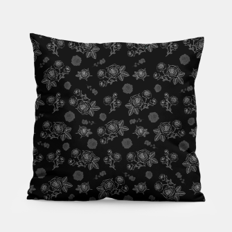 Thumbnail image of B&W Roses - Black version Pillow, Live Heroes