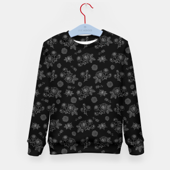 Thumbnail image of B&W Roses - Black version Kid's sweater, Live Heroes