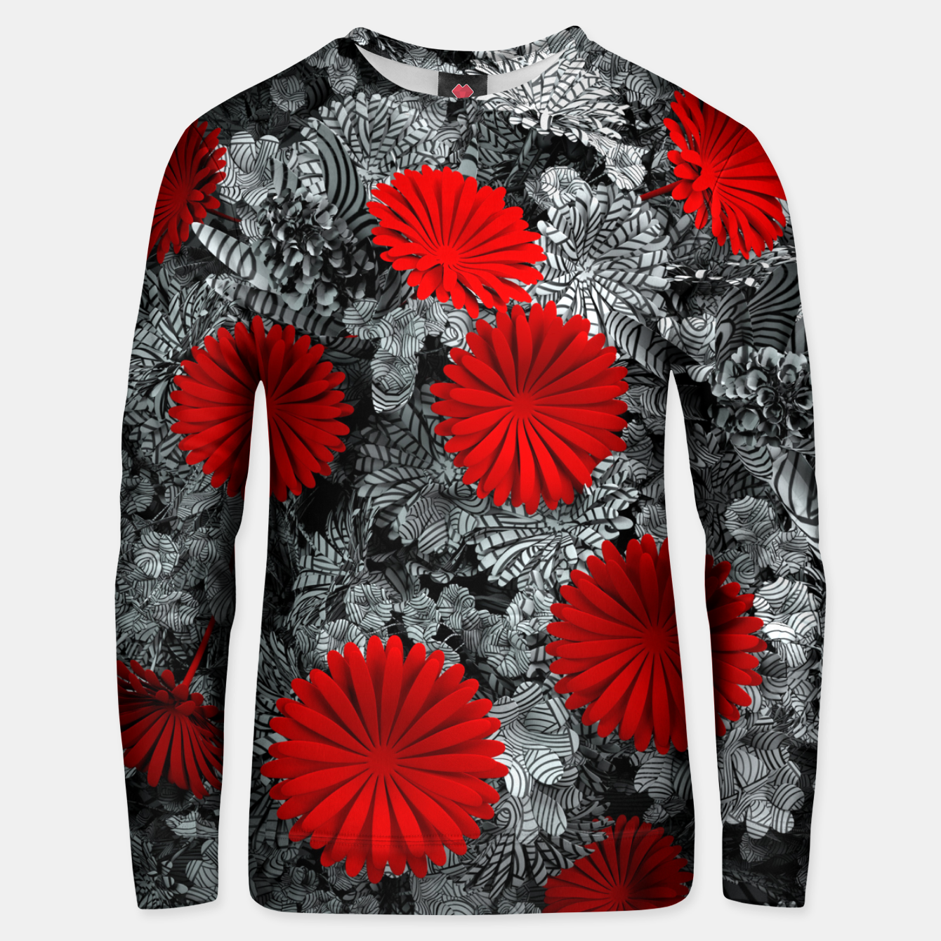 Image of Red Garden Unisex sweater - Live Heroes