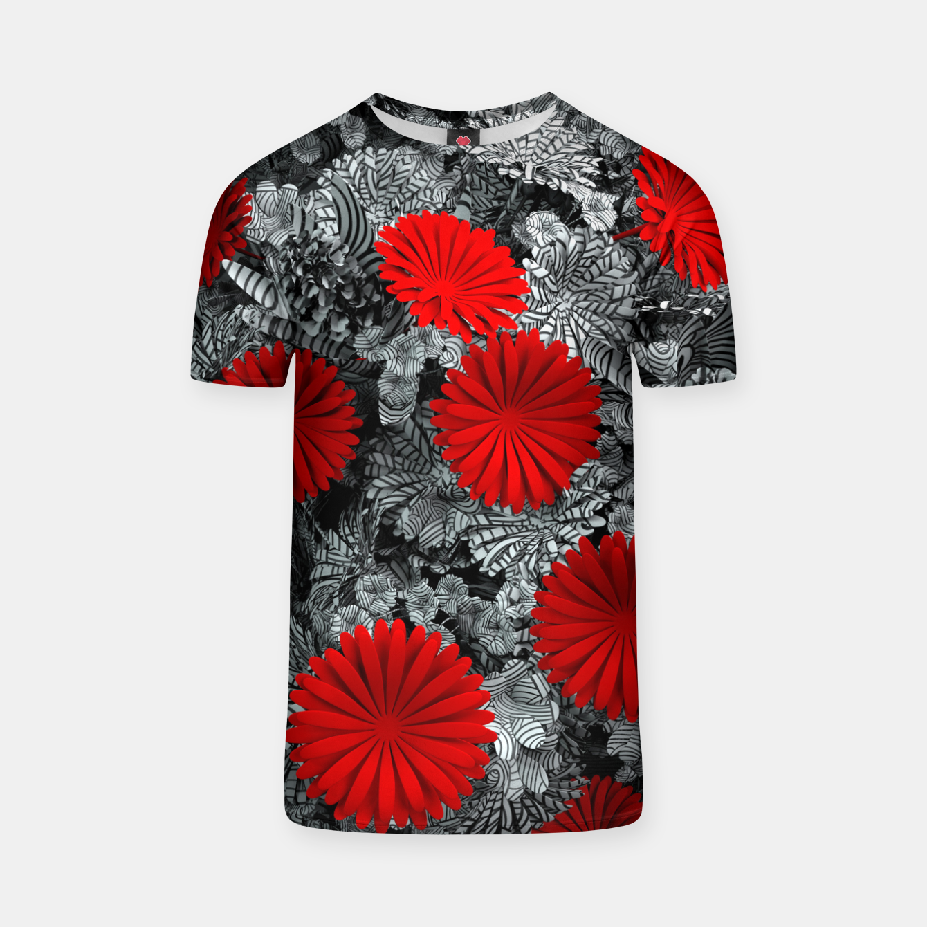 Image of Red Garden T-shirt - Live Heroes