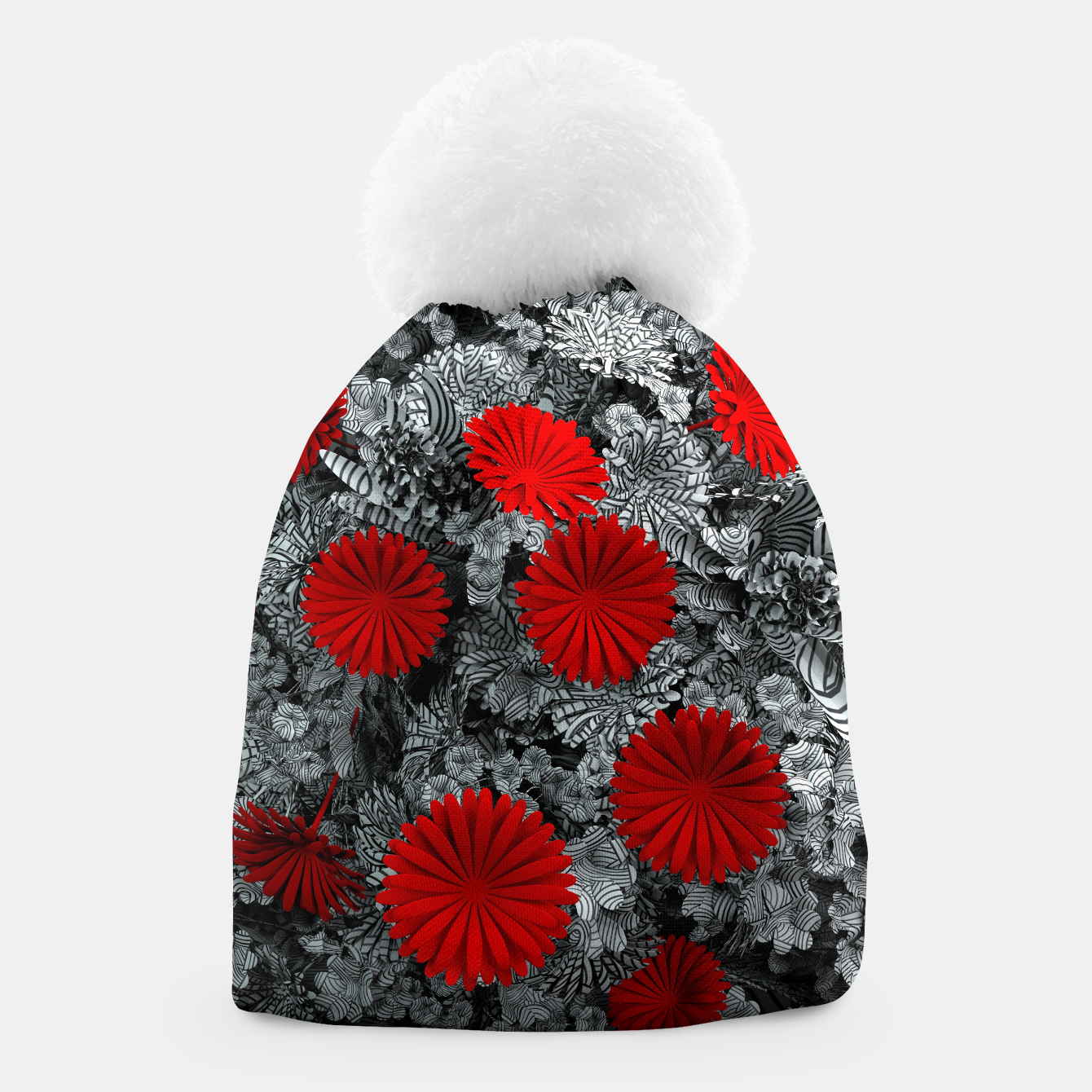 Image of Red Garden Beanie - Live Heroes