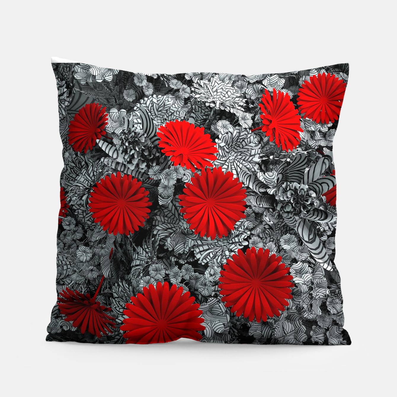 Image of Red Garden Pillow - Live Heroes