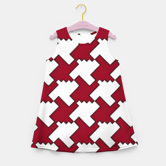 Thumbnail image of Red and white houndstooth Girl's summer dress, Live Heroes