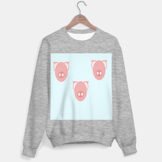 Thumbnail image of Pink piglets on blue Sweater regular, Live Heroes