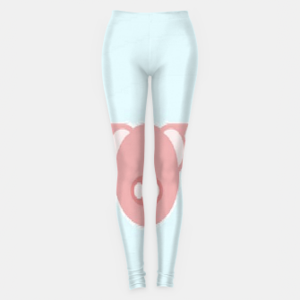 Thumbnail image of Pink piglets on blue Leggings, Live Heroes