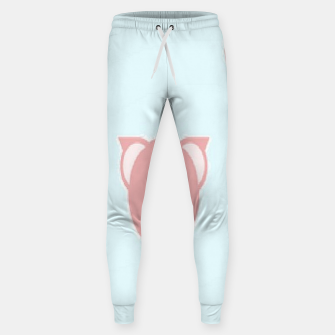 Thumbnail image of Pink piglets on blue Sweatpants, Live Heroes