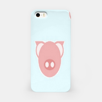 Thumbnail image of Pink piglets on blue iPhone Case, Live Heroes